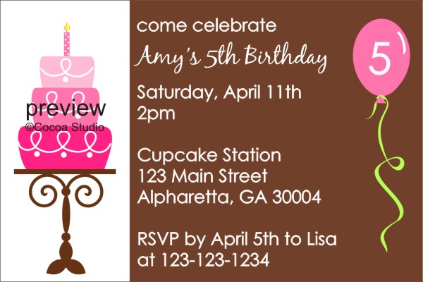 copper bathroom birthday party invitation template